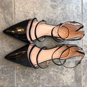 Zara Black strappy flats